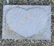 Halmstad med hjerte og spidset baggrund - 70x50 cm. Pris 5500 kr