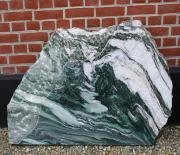 Masi grøn poleret og hugget deko´131 x 75 cm Pris 9800 kr