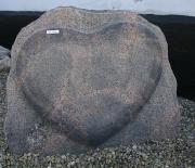 Halmstad brændt med hjerte 85 x 70 cm Pris 13500 kr