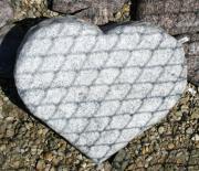 Viscon white brændt hjerte 38 x 33 cm Pris 2950 kr