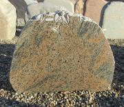 Poleret halmstad med julerose - 70x60 cm. Pris 6175kr