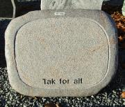 "Halmstad ""tak for alt"" (vedligeholdesfri) - 51x40 cm. Pris 3500kr"