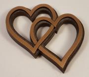 Dobbelt hjerte - 10x8cm. 675kr
