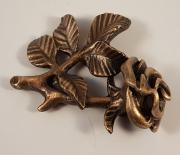 Rose bronze uden farve 7x6cm Pris 1150kr