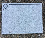 Kuru med notkant og hjerte 60 x 40 cm Pris 4400 kr.